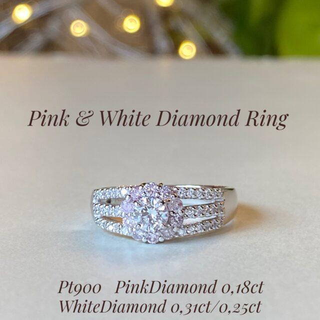 ピンクダイヤモンドリング♪