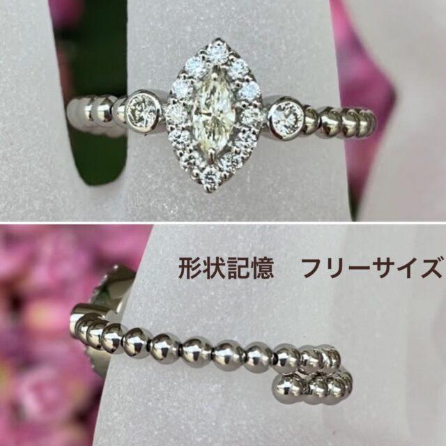 フリーサイズ ダイヤモンドリング♪
